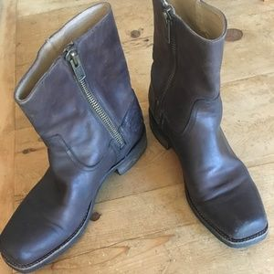 "Men's Leather ""Campus Inside Zip"" Boots"